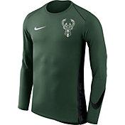 Nike Men's Milwaukee Bucks Dri-FIT Hyper Elite Green Long Sleeve Shirt