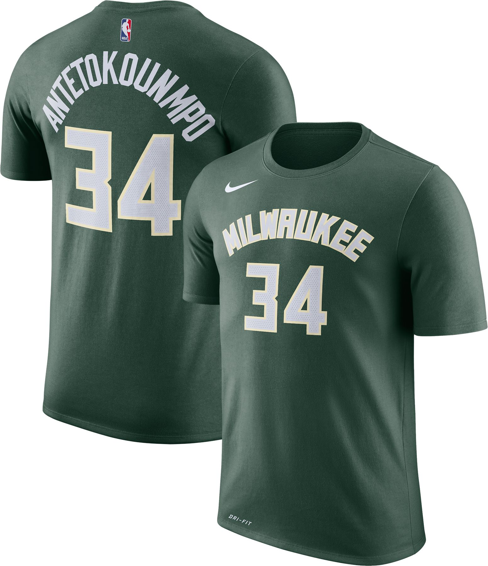 14e8c03f8 ... Nike Youth Milwaukee Bucks Giannis Antetokounmpo 34 Dri-FIT Green T- Youth  Milwaukee Bucks Giannis Antetokounmpo adidas White Home Replica Jersey ...