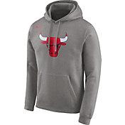 Nike Men's Chicago Bulls Club Grey Pullover Hoodie