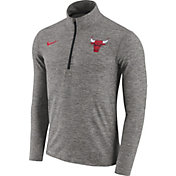 Nike Men's Chicago Bulls Dri-FIT Grey Element Half-Zip Pullover