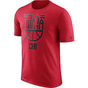 Nike Men's Chicago Bulls Dri-FIT Red Cityscape T-Shirt