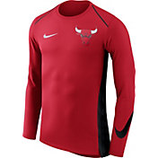 Nike Men's Chicago Bulls Dri-FIT Hyper Elite Red Long Sleeve Shirt