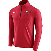 Nike Men's Chicago Bulls Dri-FIT Red Element Half-Zip Pullover