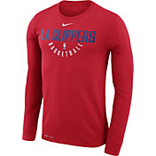 Nike Men's Los Angeles Clippers Dri-FIT Red Practice Long Sleeve Shirt