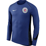 Nike Men's Los Angeles Clippers Dri-FIT Hyper Elite Royal Long Sleeve Shirt
