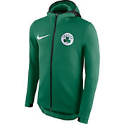 Nike Men's Boston Celtics On-Court Kelly Green Therma Flex Showtime Full-Zip Hoodie
