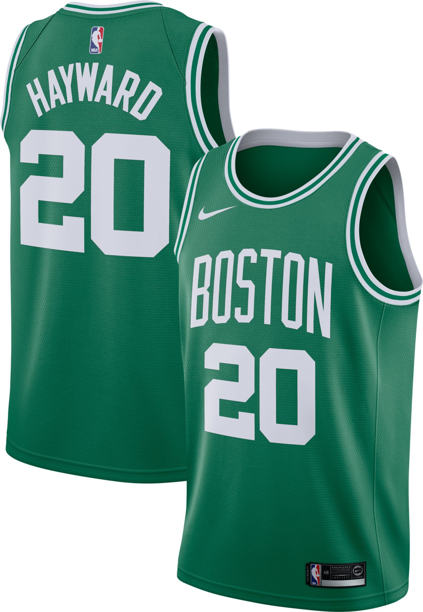 3991005f3d1 ... Nike Mens Boston Celtics Gordon Hayward 20 Kelly Green Dri-FIT Swingman  Jersey ...