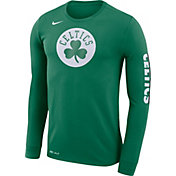 Nike Men's Boston Celtics Dri-FIT Kelly Green Logo Long Sleeve Shirt
