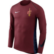 Nike Men's Cleveland Cavaliers Dri-FIT Hyper Elite Burgundy Long Sleeve Shirt