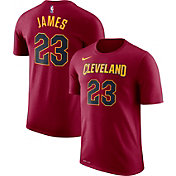 Nike Men's Cleveland Cavaliers LeBron James #23 Dri-FIT Burgundy T-Shirt