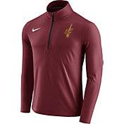 Nike Men's Cleveland Cavaliers Dri-FIT Burgundy Element Half-Zip Pullover
