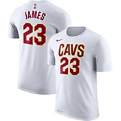 Nike Men's Cleveland Cavaliers LeBron James #23 Dri-FIT White T-Shirt