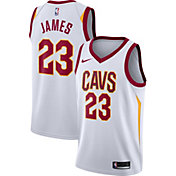 Nike Men's Cleveland Cavaliers LeBron James #23 White Dri-FIT Swingman Jersey