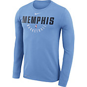 Nike Men's Memphis Grizzlies Dri-FIT Light Blue Practice Long Sleeve Shirt