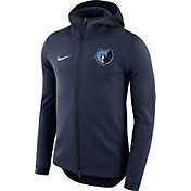 Nike Men's Memphis Grizzlies On-Court Navy Dri-FIT Showtime Full-Zip Hoodie