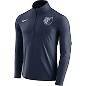 Nike Men's Memphis Grizzlies Dri-FIT Navy Element Half-Zip Pullover
