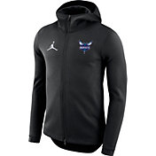 Jordan Men's Charlotte Hornets On-Court Black Dri-FIT Showtime Full-Zip Hoodie