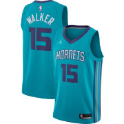 Jordan Men's Charlotte Hornets Kemba Walker #15 Teal Dri-FIT Swingman Jersey