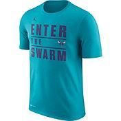 Jordan Men's Charlotte Hornets Dri-FIT Enter The Swarm Teal T-Shirt