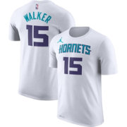 Jordan Men's Charlotte Hornets Kemba Walker #15 Dri-FIT White T-Shirt