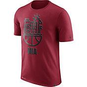 Nike Men's Miami Heat Dri-FIT Red Cityscape T-Shirt