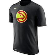 Nike Men's Atlanta Hawks Dri-FIT Black Logo T-Shirt