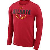 Nike Men's Atlanta Hawks Dri-FIT Red Practice Long Sleeve Shirt