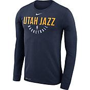 Nike Men's Utah Jazz Dri-FIT Navy Practice Long Sleeve Shirt