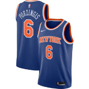 Nike Men's New York Knicks Kristaps Porzingis #6 Royal Dri-FIT Swingman Jersey