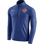 Nike Men's New York Knicks Dri-FIT Royal Element Half-Zip Pullover