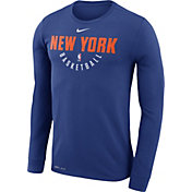 Nike Men's New York Knicks Dri-FIT Royal Practice Long Sleeve Shirt