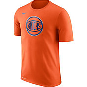 Nike Men's New York Knicks Dri-FIT Orange Logo T-Shirt