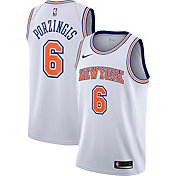 Nike Men's New York Knicks Kristaps Porzingis #6 White Statement Dri-FIT Swingman Jersey