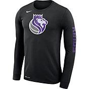Nike Men's Sacramento Kings Dri-FIT Black Logo Long Sleeve Shirt