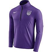 Nike Men's Sacramento Kings Dri-FIT Purple Element Half-Zip Pullover