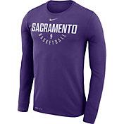 Nike Men's Sacramento Kings Dri-FIT Purple Practice Long Sleeve Shirt