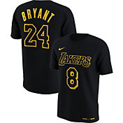 Nike Men's Los Angeles Lakers Kobe Bryant #8 & #24 Retired Dri-FIT Black T-Shirt