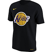 Nike Men's Los Angeles Lakers Kobe Bryant Logo Dri-FIT Black T-Shirt