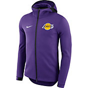 Nike Men's Los Angeles Lakers On-Court Purple Dri-FIT Showtime Full-Zip Hoodie