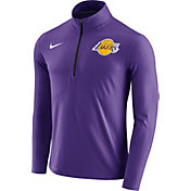 Nike Men's Los Angeles Lakers Dri-FIT Purple Element Half-Zip Pullover
