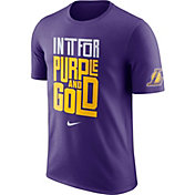 """Nike Men's Los Angeles Lakers Dri-FIT """"In It For Purple and Gold"""" Purple T-Shirt"""