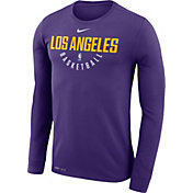 Nike Men's Los Angeles Lakers Dri-FIT Purple Practice Long Sleeve Shirt