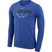 Nike Men's Orlando Magic Dri-FIT Royal Practice Long Sleeve Shirt