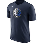 Nike Men's Dallas Mavericks Dri-FIT Navy Logo T-Shirt