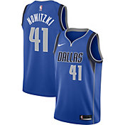 Nike Men's Dallas Mavericks Dirk Nowitzki #41 Royal Dri-FIT Swingman Jersey