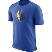 Nike Men's Dallas Mavericks Dri-FIT Royal Logo T-Shirt