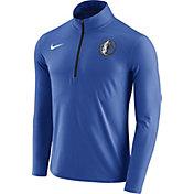 Nike Men's Dallas Mavericks Dri-FIT Royal Element Half-Zip Pullover