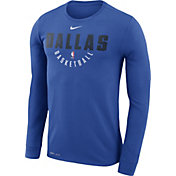 Nike Men's Dallas Mavericks Dri-FIT Royal Practice Long Sleeve Shirt