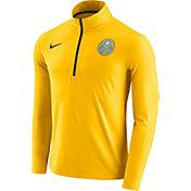 Nike Men's Denver Nuggets Dri-FIT Gold Element Half-Zip Pullover