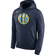 Nike Men's Denver Nuggets Club Navy Pullover Hoodie